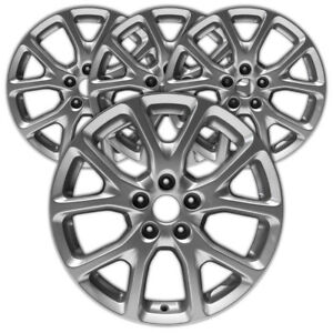 17 Silver Rim By Jte For 2014 2017 Jeep Grand Cherokee 17x7 Set Of 4