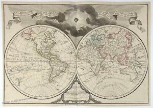 World Delisle Large 66x45cm Antique Map 34256