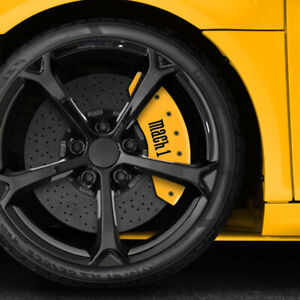 Yellow Mach 1 Caliper Covers For 1997 2004 Ford Mustang By Mgp