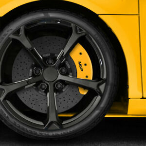 Set Of 4 Front And Rear Yellow Mgp Caliper Covers For 2002 2004 Ford Focus Svt