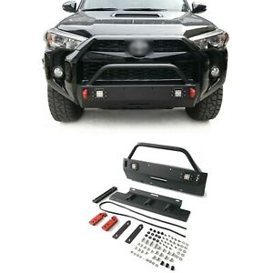 Front Bumper Grill Grille Guard With Lights For 2016 2020 Toyota 4runner Trd Pro