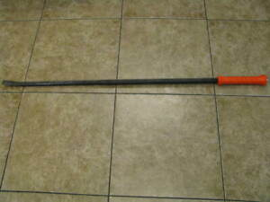 Snap On 54 Extra Long Orange Hard Handle Striking Pry Bar Spbh54 Usa Mint
