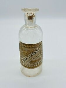 Antique Cologne Apothecary Theo A Koch S Of Chicago Glass Bottle Paper Lane
