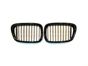 Grilles M5 Style Piano Gloss Black Front Hood Grille 97 03 For E39 530i 540i