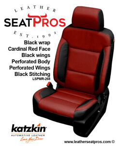 Leather Seat Covers 14 18 Silverado Crew Double Cab Black Cardinal Red Salsa