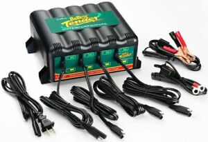 Battery Tender Multiple Bank Plus 4 station Charger Maintainer 12v 1 25 Amp Each