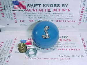 Cobra Mustang Ford Licenced Shift Knob With Pin Poured Inside Grabber Blue