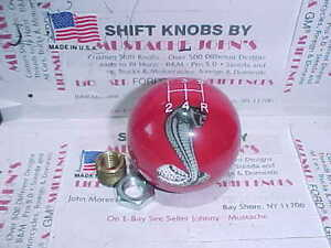 Ford Cobra 5 Speed 2 1 4 Licenced Ford Shift Knob red