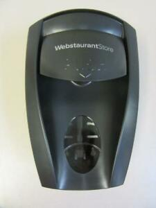 Webstaurant Store Wall Mount Bathroom Push Foaming Soap Dispenser Black