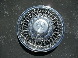 One 1982 To 1988 Lebaron Voyager New Yorker Wire Spoke Hubcap Wheel Cover
