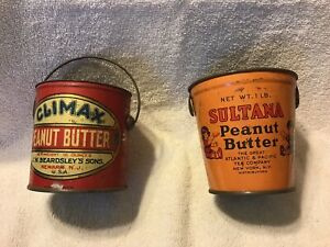Climax and Sultana Peanut Butter Tins