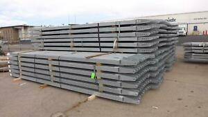 Lot Of 54 4 Inch Galvanized Steel Square Tubing W Strut 17 5 Ft 11 Gauge