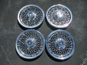 Dillinger Gaines Lincoln Cadillac Limo Wire Spoke 15 Inch Hubcaps Wheel Covers