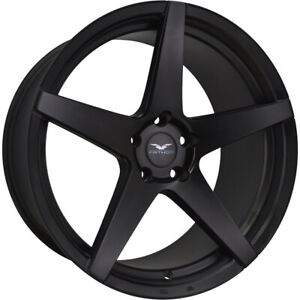 4 22x9 Black Wheel Fathom Stern 5x120 25