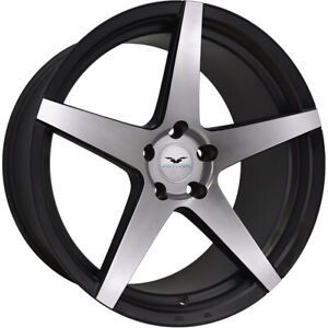 4 22x10 Machined Black Wheel Fathom Stern 5x120 22