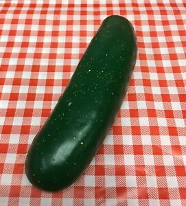 Faux Fake Food Replica Vegetable Cucumber Produce Home Display Movie Prop Vck7
