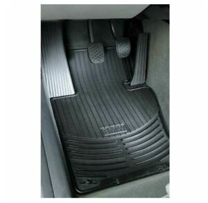 Genuine New Front Black Rubber All Weather Floor Mats For Bmw E39 5 series