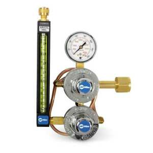 Miller Smith 35 30 320 Co2 Flowmeter Regulator With Heat Exchanger
