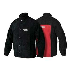 Lincoln Electric K2989 Heavy Duty Leather Welding Jacket Large