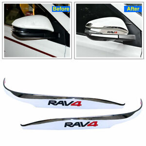 For Toyota Rav4 2014 2019 Chrome Car Door Rearview Mirror Decor Side Mirror Trim