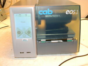Cab Eos1 300 Touchscreen Lcd Display Bar Code Label Printer P n 5965102 300 Dpi