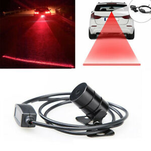 Car Rear Laser Fog Light Led Anti Collision Taillight Brake Warning Bulb Lamp