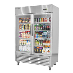 Reach-in Commercial Display Refrigerator Merchandiser with LED Lighting 49 cu.ft $2,399.00