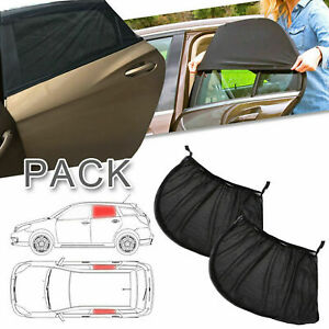 Car Rear Side Window Sun Shade Cover Visor Mesh Shield Sunshades Uv Protection