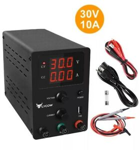 Lycow Dc Power Supply Variable 3 Digital Led Display Adjust Regulated 30v 10a