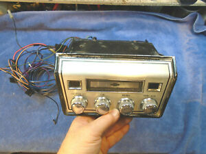 Serviced 67 Chevrolet Chevelle Corvair Impala Stereo 8 Track By Delco Radio 1967