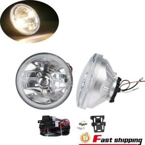 Led Clear Lens Fog Light Universal 4 Round Chrome Housing Lamps With Switch