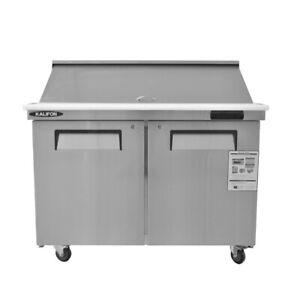 Commercial Sandwich Salad Prep Table 12 9 Cu Ft With Cutting Board And 18 Pans