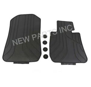 genuine Front All Weather Floor Mats Set Black For Bmw E90 E92 E93 3 series