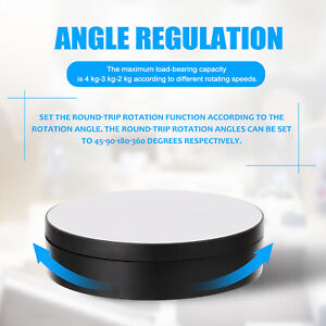 360 Degree Electric Rotating Turntable Display Stand Photography Video