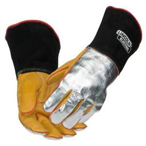 Lincoln Electric K2982 Top Grain Cowhide aluminized Welding Gloves X large