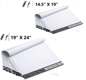 14 5x19 19x24 White Poly Mailers Shipping Envelopes Self Sealing Mailing Bags