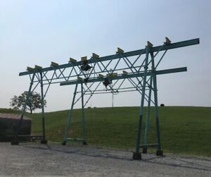 Rolling Gantry Crane Overhead Lift 30 3 Ton Or 50 5 Ton Used Working