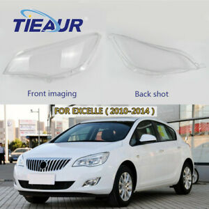 Pair Lampshade Headlight Lens Cover 2010 2014 For Buick Excelle