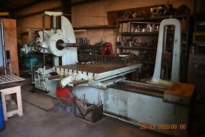Lucas Horizontal Boring Mill model 33 With Extra Long Bed 9ft 4 1 2 In bar