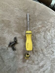 Snap On Yellow Ratcheting Screwdriver With Bits