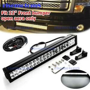 For Ford F150 120w 20 Led Lower Bumper Straight Work Light Bar Wiring Kit