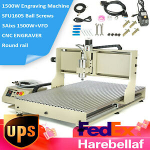 Usb 6090 3 Axis Cnc Router 1 5kw Vfd Engraver Carving Drill Machine Ball Screws