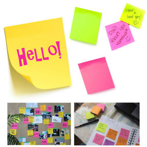 10pk Sticky Notes 2800 Sheets Mini Memo Pads Post Self Adhesive Office 1 5 X 2