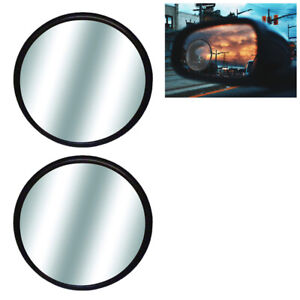 2 Blind Spot Rear Side View Mirrors 3 Wide Angle Convex Car Truck Universal Fit