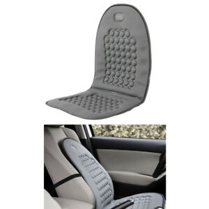 1 Gray Car Seat Cushion Bubble Massage Orthopedic Lumbar Support Magnets Pillow