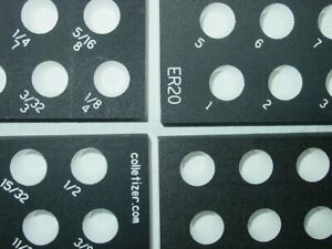 Er20 Collet Inch Or Metric Set Storage Rack Engraved Sizes Tray Holder Stand