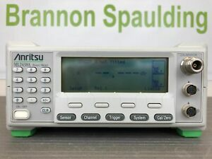 Anritsu Ml2438a Dual Channel High Accuracy Power Meter 10 Mhz 110 Ghz