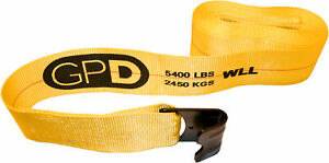 20x Winch Straps 4 X 30 With Flat Hooks For Flatbed Trailers Trucks