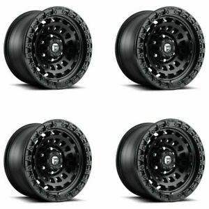 Set 4 17 Fuel D633 Zephyr 17x9 Matte Black 6x135 Wheels 12mm Lifted Truck Rims