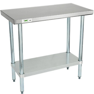 36 X 18 Stainless Steel Work Prep Shelf Table Commercial Restaurant 18 Gauge